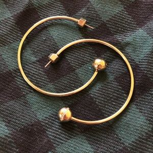 Marc by Marc Jacobs Yellow Gold Hoop Stud Earrings